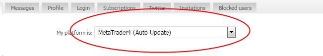 Choose Metatrader4 (AutoUpdate)